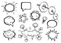 各种爆炸会话矢量素材