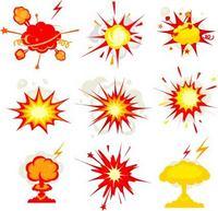 各种爆炸设计素材