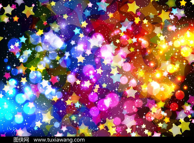 七彩星星光斑背景