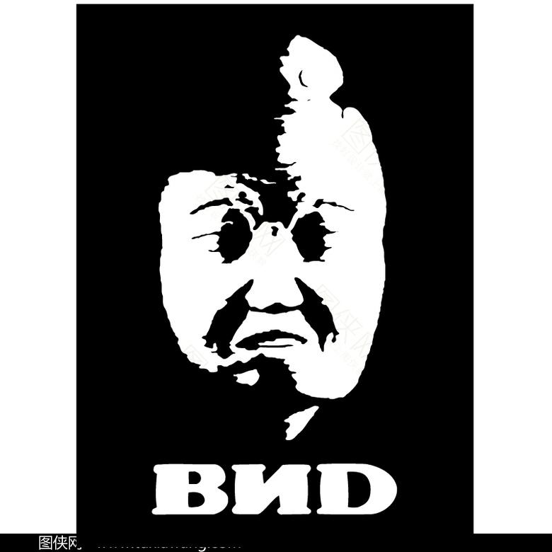 黑白人物头像素材logo