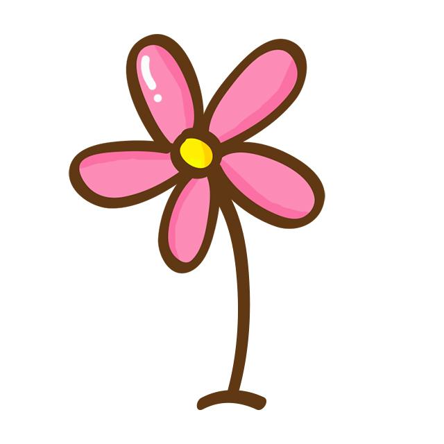 可爱卡通花朵素材