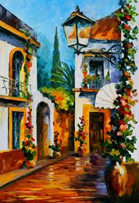 精美房子油画