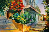 精美房子油画装饰画