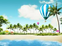 热气球装饰画