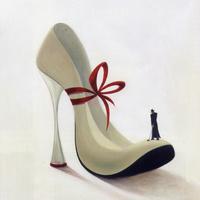 白色高跟鞋装饰画素材