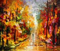 彩色精美树林油画