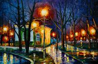 精美夜景油画