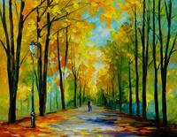 精美树林油画