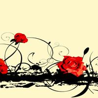 抽象手绘玫瑰装饰画1