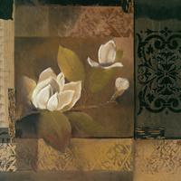 素净白花装饰画1
