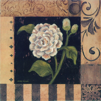 复古白花装饰画