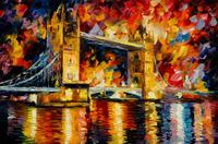 精美大桥油画