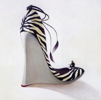 高跟鞋油画素材