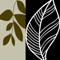 抽象树叶装饰画1