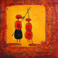 两只蚂蚁装饰画