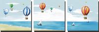 卡通热气球装饰画