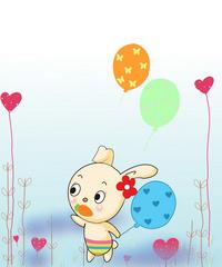 卡通小兔子装饰画