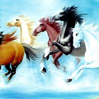 手绘骏马装饰画1
