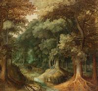 复古树林酒店装饰画