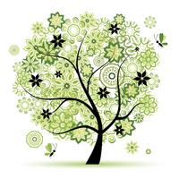 绿色的精美大树装饰画