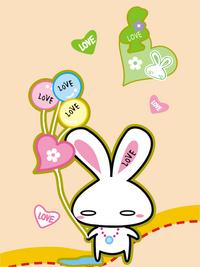 兔子卡通装饰画1