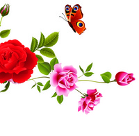 简约玫瑰装饰画3