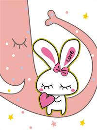 兔子卡通装饰画