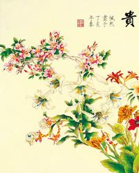 古典手绘花卉装饰画