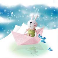 卡通兔子装饰画