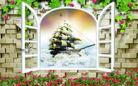 精美帆船装饰画