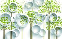 卡通精美树木装饰画