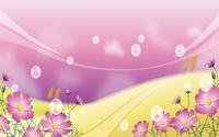 紫色时尚美丽卡通花朵装饰画