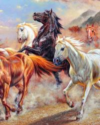 油彩骏马装饰画1