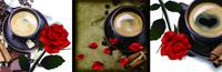 咖啡玫瑰花装饰画1
