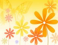 卡通可爱时尚花朵装饰画