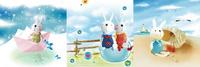 卡通兔子装饰画3