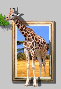 长颈鹿3D装饰画