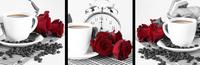 咖啡玫瑰花装饰画
