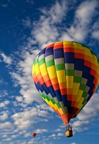 多彩热气球玄关画