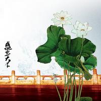 国风花朵装饰画
