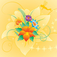 卡通花朵装饰画
