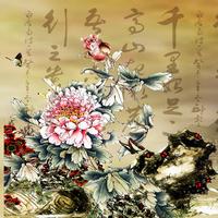 国风花朵装饰画1