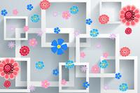 卡通彩色花朵装饰画