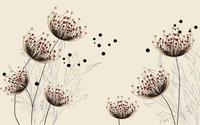 卡通美丽抽象花朵装饰画