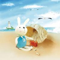 卡通兔子装饰画2