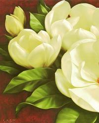复古白色花朵装饰画
