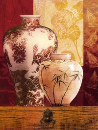 中式花瓶装饰画