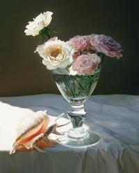 阳光下的花瓶装饰画