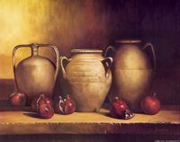 水果和瓶子装饰画3