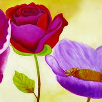 艳丽玫瑰装饰画